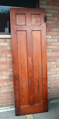 "ANTIQUE 1800's VICTORIAN ITALIANATE art deco INTERIOR DOOR UNPAINTED 92"" X 30"""