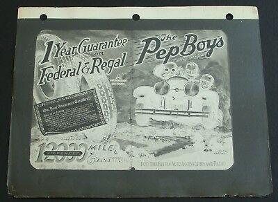 The Pep Boys Manny Moe & Jack Late 1920's Phila. Daily News Advertising Proof #2