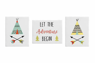 Woodland Outdoor Adventure Wall Art Room Decor Hanging Baby Nursery Kid Children