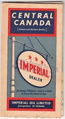 1940 CENTRAL CANADA (Ontario and Western Quebec) Road Map - Imperial Oil Limited