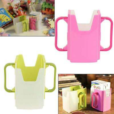 Kid Child Baby Juice Milk Box Drinking Adjustable Cup Holder for Juice Water J