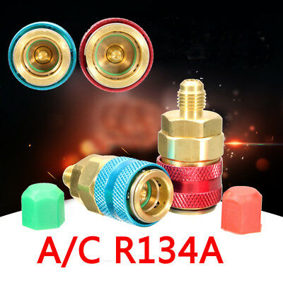 1/2x A/C R134A Quick Connector Adapter Coupler Auto Manifold Gauge Low/High HVAC