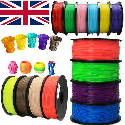 1KG 3D Printer Filament PLA 1Kg 1.75MM/3.00MM Roll Pack For Huxley Makerbot UK