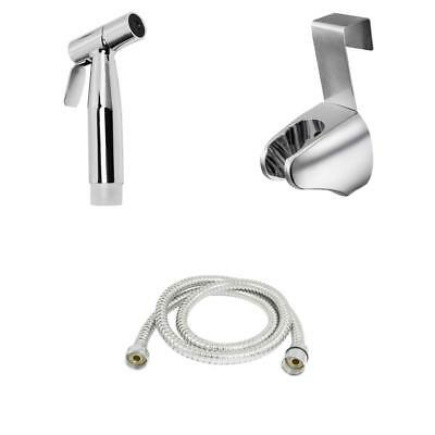 Home Toilet Shattaf Sprayer Handheld Bidet Shower Head Wall Bracket Hose Kit