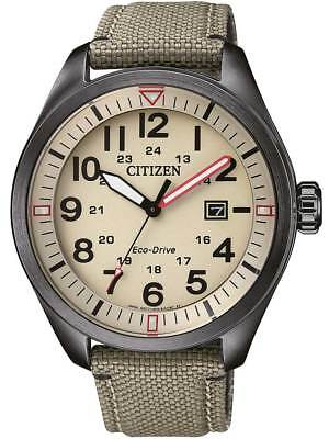 Citizen Eco-Drive Stainless Steel Nylon Strap Mens Watch AW5005-12X. Casual Chic