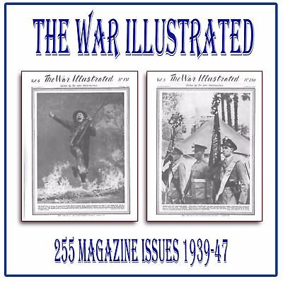 The War Illustrated ☆☆ World War 2 WW2 ☆☆ COMPLETE SET ☆ 255 Magazines on DVD L7