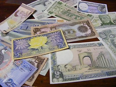 Lot of 29 uncirculated World Banknotes, 28 diff.... one 1964 Indonesia(Lot B)