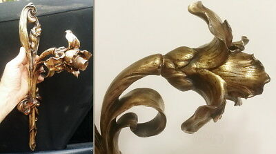 Art Nouveau Bronze IRIS Wall Sconce MAJORELLE ? Lamp Sculpture 1900