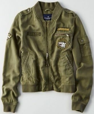 628c6cde943 AMERICAN EAGLE OUTFITTERS Bomber Flight Jacket Coat Mens SMALL S ...