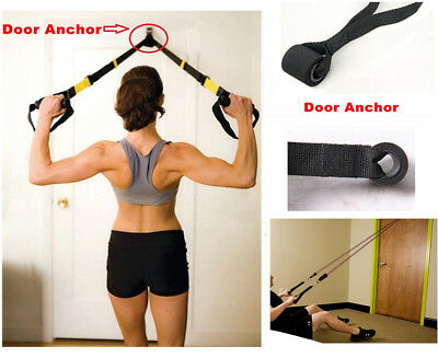 New Resistance Exercise Bands - Advanced Door Anchor Black