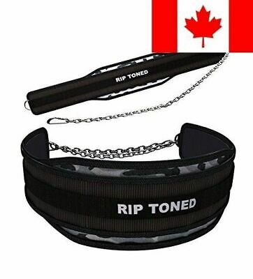Lifting Dip Belt By Rip Toned - 6 Inch Wide Weightlifting Dip Belt With Heavy...