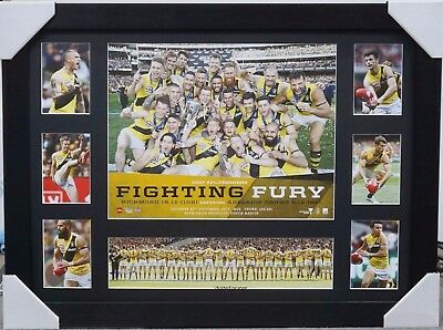Richmond 2017 Premiers Print Framed - Afl Collage Dustin Martin Trent Cotchin