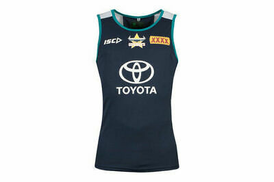 NQ Cowboys NRL 2018  Players ISC Training Singlet Size S-5XL! In Stock!