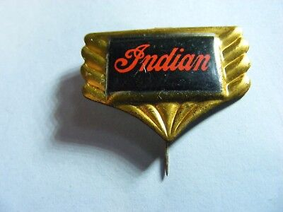 INDIAN  motorcycle very old  tinplate/tinlitho pin badge,prob. 1950s...(B).