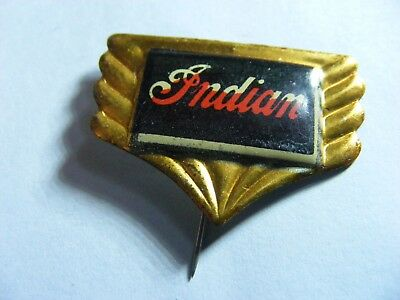 INDIAN  motorcycle very old  tinplate/tinlitho pin badge,prob. 1950s..