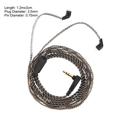2 Pin Silver Plated Replacement Earphones Cable for KZ ZST ED12 ES3 ZSR Earphone
