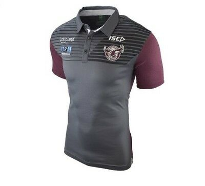 Manly Sea Eagles NRL 2018 Players Carbon Sublimated Polo Sizes S-5XL! In Stock!