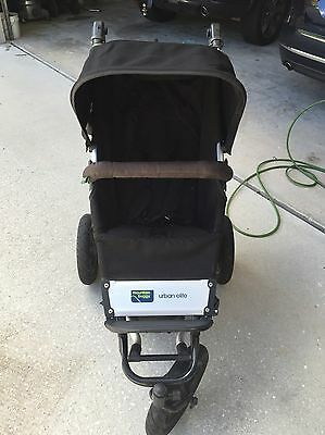 Mountain Buggy Urban Elite Black Single Seater Jogger Stroller With Accessories
