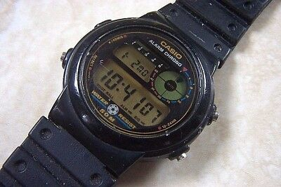 A VINTAGE CASIO FOOTBALL CHRONOGRAPH WATCH TRW 10 c.LATE  pC0x8