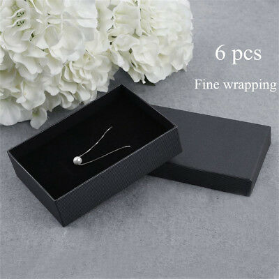 Packaging Gift Box 6 Pcs Dark Stripe Ornaments Boxes For Necklace Earrings GY