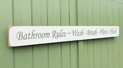 Shabby Chic Sign Bathroom Decor Home Sign Plaque By Austin Sloan