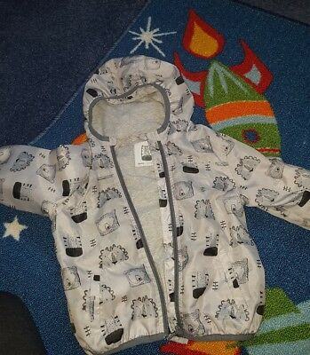 BOYS 12-18 months next COAT JACKET RAIN MACK animal design... Rolls away