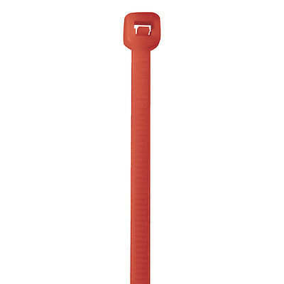 """Box Partners Colored Cable Ties 50# 11"""" Fluorescent Red 1000/Case CT115K"""