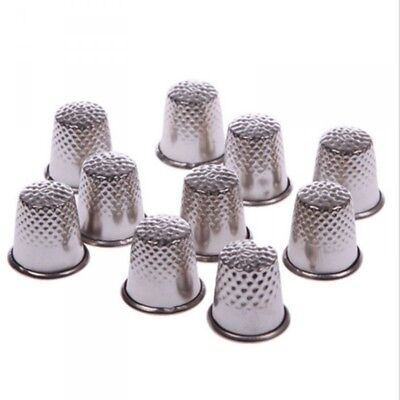 3 x Metal Thimble Sewing Thimbles Needlework Quilting 14mm To 18.5mm
