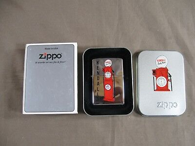 2000 Kendall Motor Oil Polly Power Zippo Lighter, Brand New w/ Collectors Box