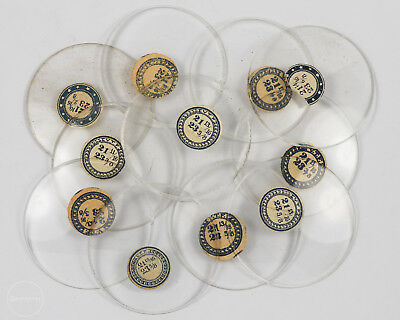 Group of 11 Antique Glass V.T.F. Pocket Watch Crystals out of an Estate!
