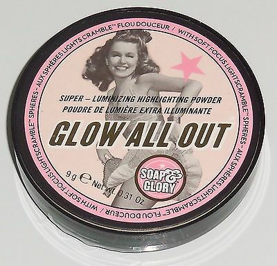Soap & Glory Glow All Out Luminizing Highlighter Powder Full Size 9g New Sealed
