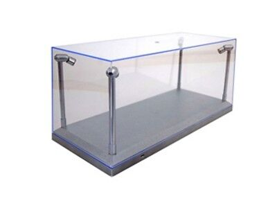 TRIPLE 9 189922 Model Display case Clear top / silver base & LED lights 1:18th