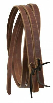 "8' x 1"" Western Leather Reins w/ Water Loop Ends MADE IN THE USA NEW HORSE TACK"