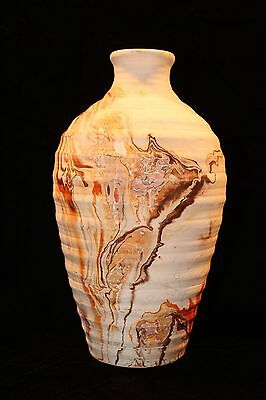 Vintage NEMADJI POTTERY Swirl Native Clay Indian Art Flower Vase, Made in USA