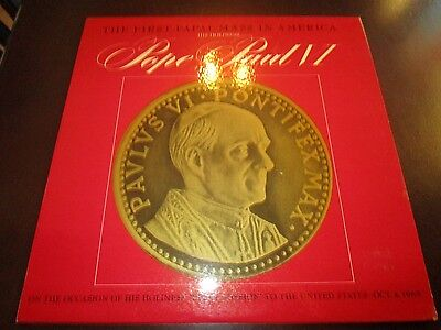 Pope Paul VI-First Papal Mass In America-LP-Missal-MLP 711-Vinyl Record