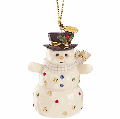 Lenox 2017 Holiday Gems Snowman Ornament  Rare and hard to find