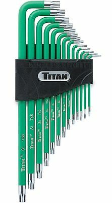 Titan Tools 12715 13pc Extra Long Tamper Resistant Star Key Set (torx)