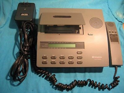 dictaphone model 2750 cassette transcriber w/mic and power cord
