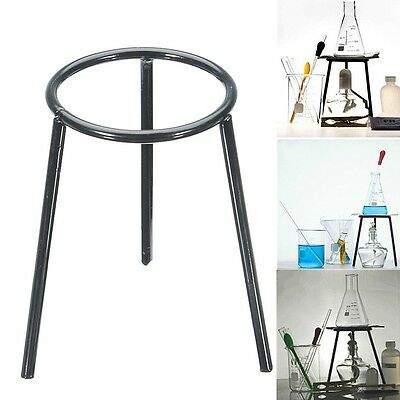 Professional Lab Bunsen Burner Tripod Cast Iron Support Stand New!