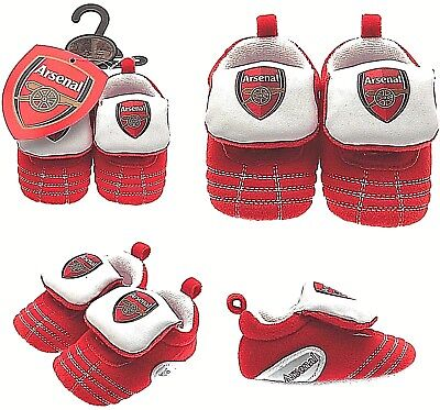 Arsenal Fc Babies Red Football Club Boots Booties Baby Slippers Pram Shoes Afc