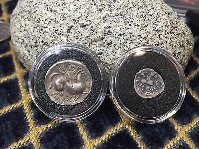 Ancient Greece Coin Celtic unknown Pointy-Nose CrazyHorse Drachm w/ silver Roman