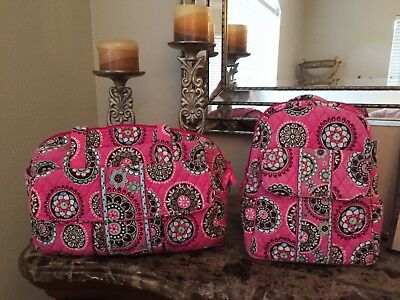 Vera Bradley Large Stroll Around Baby Bag + matching backpack!! Mommy and me!!