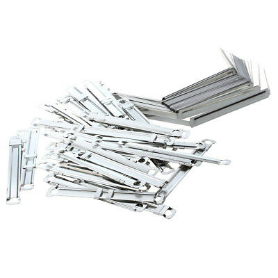 50 Sets Metal Office Fasteners Clips for Paper File V8D2