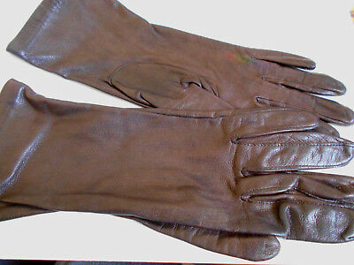 Vtg.lined (leather??) woman's gloves Size 7 (small) --from estate