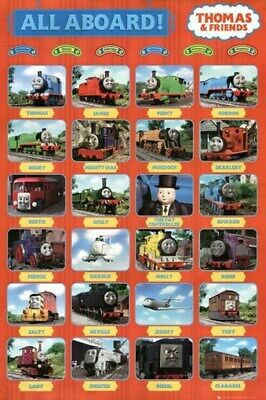 THOMAS AND FRIENDS POSTER All Aboard - Collage 24X36 - PRINT IMAGE PHOTO -PW0