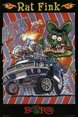 RAT FINK POSTER Boss Mustang RARE HOT NEW 24X36 - PRINT IMAGE PHOTO -QW0