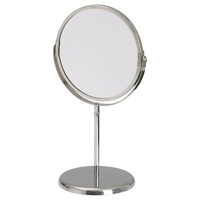 2017 IKEA 2 Sided Stainless Steel Bathroom Mirror Magnifying Makeup Shaving