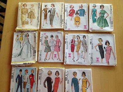 Vintage McCall's Sewing Pattern Cut, 1960-1964, Choose Your Style