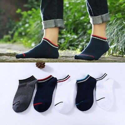 NEW 10Pair Men Invisible No Show Nonslip Loafer Boat Ankle Low Cut Cotton Socks