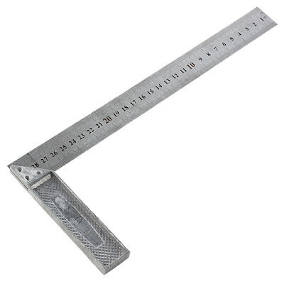 30cm Stainless Steel Right Measuring Angle Square Ruler W7D2